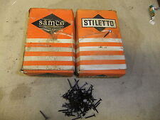 """Upholstery grooved blued tacks nails 5/8"""" 15mm 1ib / 500gm box STILETTO / SAMCO"""