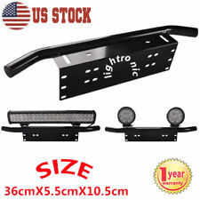 23'' Bull Bar Front Bumper License Plate Mount Bracket Offroad LED Light Holder