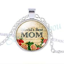 Mothers Jewellery Gift Uk Fast Dispatch Worlds Best Mom Pendant & Necklace, New