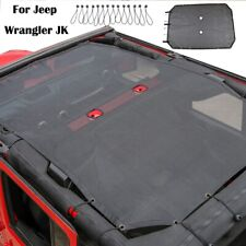 For Jeep Wrangler Jk 4 Door Mesh Shade Top Cover Provides Uv Protection Black Fits More Than One Vehicle