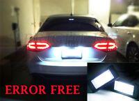 2x AUDI A4 A5 B8 Q5 TT NUMBER PLATE XENON WHITE 6000K 21 LED LIGHT UNITS