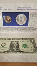 2000 Millennium Coinage & Currency Set Coins with Odd $1 Note serial D20001616B