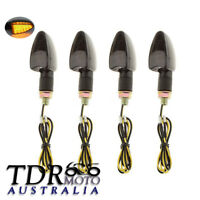 4x Black LED Turn Signal Indicators Blinker Amber Lights For KTM 450 EXC-R