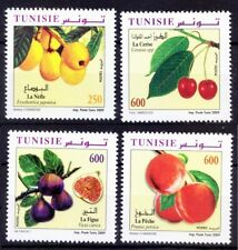 Tunisia 2009 MNH 4v, Fruits, Pomegranate, Peach, Cherry, Fig, Healthy Food