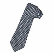 Vineyard Vines Boys Youth Dark Blue Geometric Design 100% Silk Necktie Tie