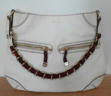 Vintage Gucci white shoulder bag with chain strap