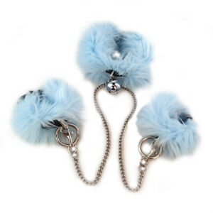 PAWSTAR Furry Collar & Cuff Set - Blue Pastel Petplay Sexy Choker baby [LB]5610