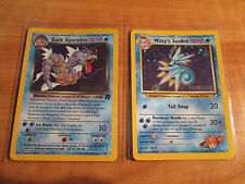 PRERELEASE Pokemon DARK GYARADOS+MISTY'S SEADRA Card Set 8/82+9/132 PROMO Holo