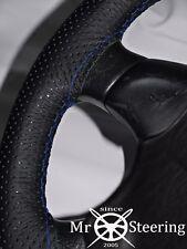 Pour Nissan Juke 10-17 Perforé Volant en cuir couverture R Bleu Double STCH