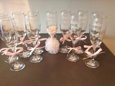 Personalised Champagne Glass Wedding,Bride, Groom Hen, Bridesmaid.