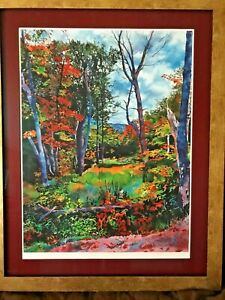 Print by Laurie Bender titled Pathless Woods II Signed Numbered w/COA Free Ship