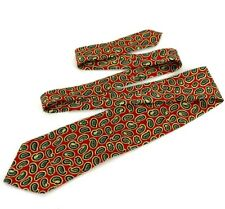 HUGO BOSS Paisley Red Mens Designer Neck Tie RED BLUE YELLOW GREEN MADE IN ITALY
