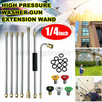 7XHigh Pressure Washer Extension Spray Wand 1/4'' Replacement Lance With Nozzles