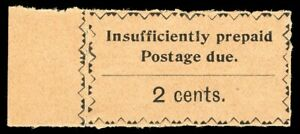 Zanzibar 1930 KGV Postage Due 2c black/salmon superb MNH. SG D18. Sc J12.