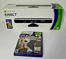 XBOX Kinect Sensor w/ Kinect Adventures & UFC Personal Trainer Fitness Games Lot