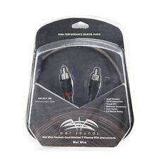 Wet Sounds WW-RCA.5M 0.5m Marine Audio 2-Channel RCA Interconnect Cable New