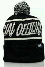 The Official Brand 1D Pom Black street one size unisex comfortable daily beanie