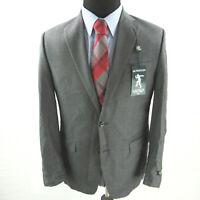 $695 Lauren Ralph Lauren 100% Wool Stretch Suit Jacket Mens 38R 38 Gray NEW