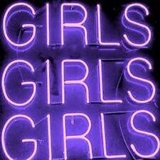 "New Girls Girls Girls Purple Bar Pub Acrylic Neon Light Sign 14"""