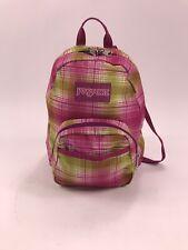 JANSPORT Mini Backpack Pink Plaid