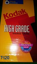 Kodak High Grade T-120 Blank 6 Hours VHS Tapes New Retail Sealed Package