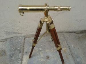 "Vintage 9 ""Pirates Style Ship Telescope on Stand Vintage Artículo Telescopi"