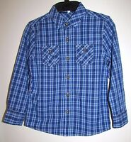 NEW BOYS LONG SLEEVE CHECKED SHIRT NAVY MIX MARKS & SPENCER KIDS 5-6 7-8 13-14 Y