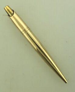 Parker Minim Ballpoint Pen Solid 14K Barrel New Refill Odd Mechanism