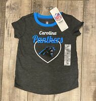 NFL Team Apparel Carolina Panthers Short Sleeve T-Shirt Toddler Size 2T NWT
