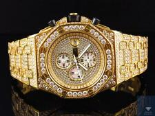 Mens Jewelry Unlimited Jojino Joe Rodeo Gold Simulated Diamond Watch 43MM