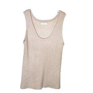 Sablyn size XS 100% cashmere sleeveless sweater tank top blush pink