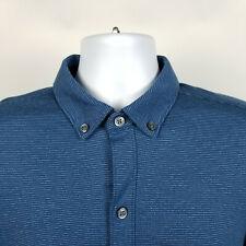 Banana Republic Luxury Touch Stretch Standard Fit Blue Mens Dress Shirt Medium M