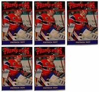 (5) 1992 Prime Pics #61 Patrick Roy Hockey Card Lot Montreal Canadiens
