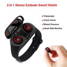 M1 pro 2 in 1 TWS Stereo Earbuds Smart Watch Wireless Heart Rate Monitor Tracker