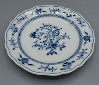 Porzellan Sammelteller Meissen mit blauem Blumenmuster um 1934 bis 1945