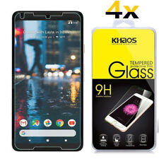 4-Pack Khaos For Google Pixel 2 XL Tempered Glass Screen Protector