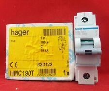 HAGER HMC190T 100A 100AMP C TYPE C100 SINGLE POLE SP 1P MCB FUSE SWITCH 15KA