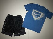 Lot of 2 Nike AND1 Shorts & Shirt Outfit Basketball Athletic Size Small 6-8 EUC