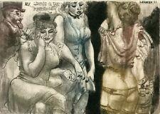 David Bekker, Ukraine, Original Art Print Etching Ex libris,  Undressing,  Nude