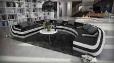 Wohnlandschaft Lounge Ecksofa TISSERA U Form Sofa Polstercouch Couch Rundsofa