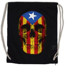 CATALONIA SKULL FLAG Turnbeutel Freedom for Free Viva la Revolution Banner