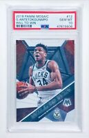 2019 Panini Mosaic GIANNIS ANTETOKOUNMPO PSA GEM MINT 10! WILL TO WIN Bucks!🔥📈