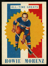 1960-61 TOPPS HOCKEY~ALL TIME GREATS~#59~HOWIE MORENZ~HIGH GRADE