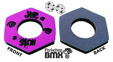 Jive Nuts old school Bmx bicycle grip foam donuts Purple Gray *Made In Usa* Nos