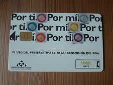 Collectable Phone Card Spain Por tí.Por mí. Preservativo SIDA Tarjeta Telefónica