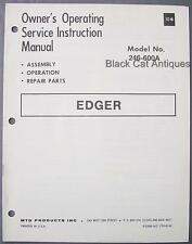 Original MTD Edger Owners Operating & Service Instruction Manual Model 246-600A