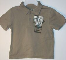 CALVIN KLEIN JEANS Boys Size 3T Brown Short Sleeve Shirt