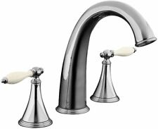 KOHLER Bathroom Faucet w Traditional High Flow Chrome Finish & Lever Handles