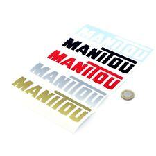 Manitou Stickers Decal Vinyl 150mm x2 Telehandler Forklift Stickers