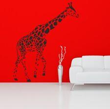 GIRAFFE wall art sticker african safari animal jungle bansky mural vinyl decal